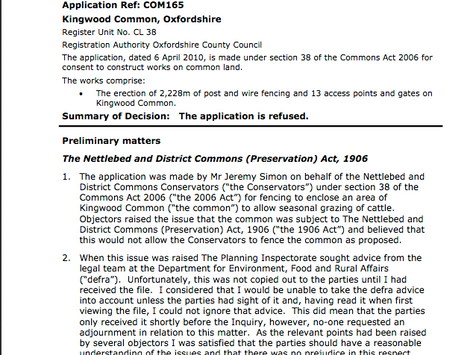 Flemming Family and Conservators Fail in Bid Against Act of Parliament