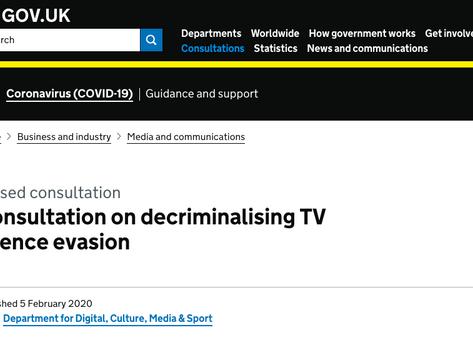 Consultation on Decriminalising TV Licence Evasion