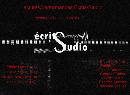 Lectures-Performances Écrits/Studio