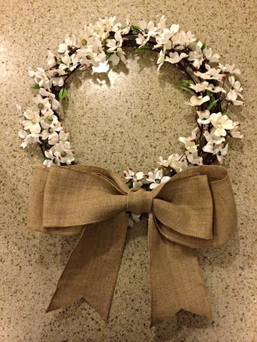 Daisy and burlap wreath