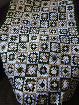 Crochet granny sqaures blanket