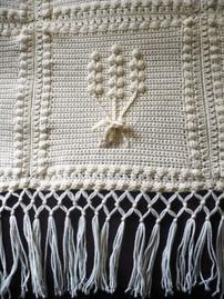 Crochet floral bundle anniversary blanket