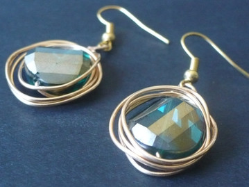 Wire wrap earrings