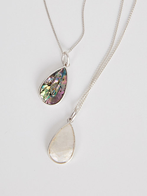 Natural mother of pearl necklace