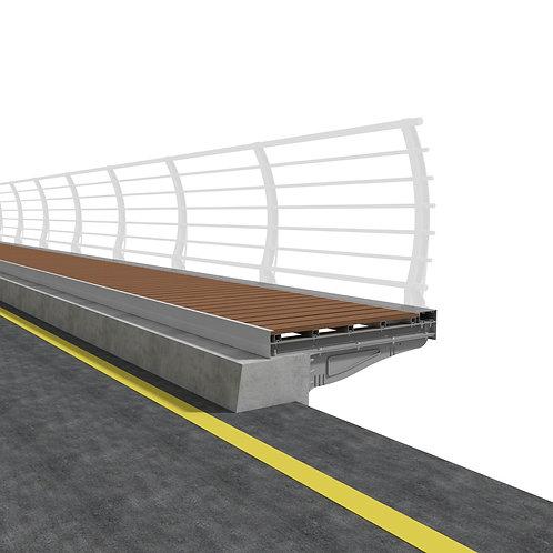 Aluminum, WPC Foot Bridge