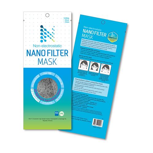 Non Electrostatic Nano Filter Mask