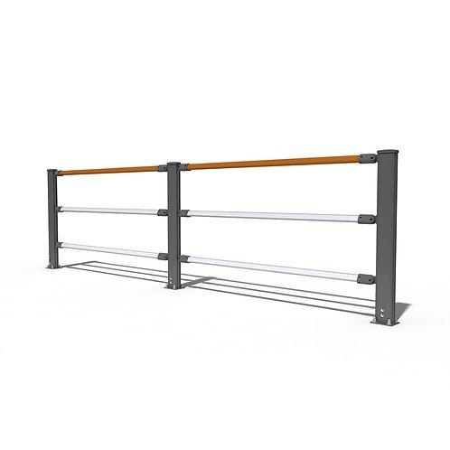 Aluminum angle adjustable fence