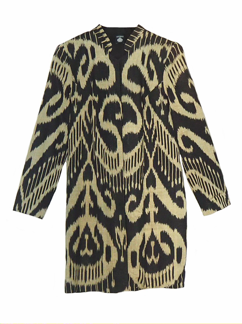Doubleface Straight Coat Black and Gold