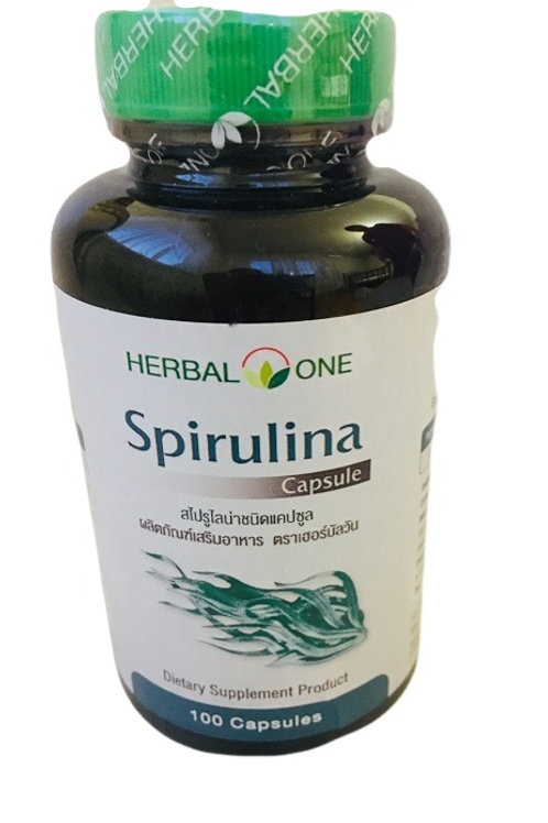 Капсулы Спирулина Spirulina Herbal One 100 капсул по 400 мг