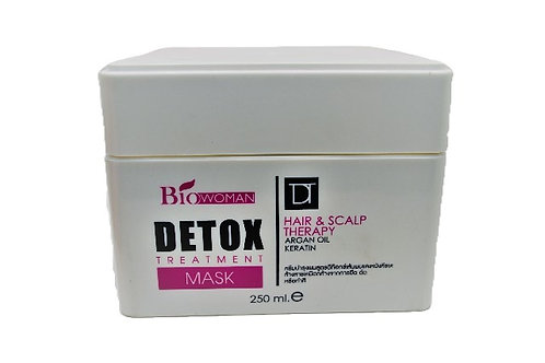 Biowoman Detox Treatment Hair & Scalp Therapy Mask / Детокс-маска для волос с ке