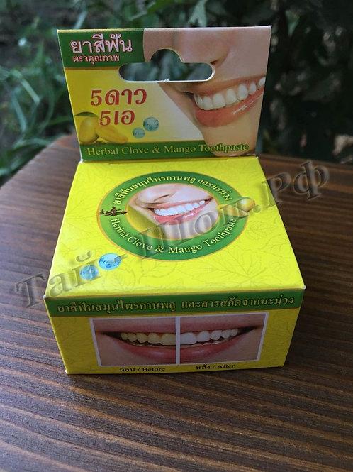 Тайская отбеливающая круглая зубная паста Манго