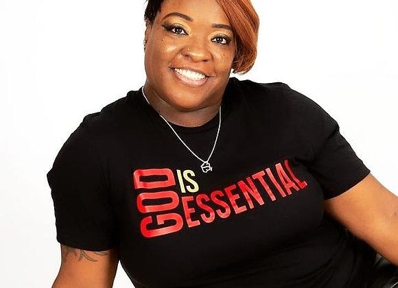 """""""God Is Essential"""" Black/Red Short Sleeve, Tee"""