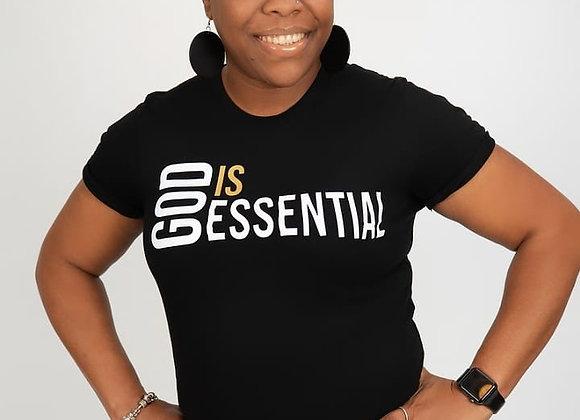 """God Is Essential"" Black/White Short Sleeve, Tee"