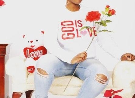 "(PRE-ORDER) ""GOD IS LOVE"" long sleeve, White Tee"