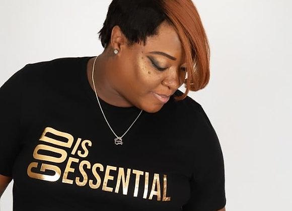 """God Is Essential"" Black/Gold Short Sleeve, Tee"