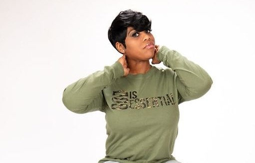 "(PRE-ORDER) ""GOD IS ESSENTIAL"" Long-Sleeve Tee, Green/Camo"
