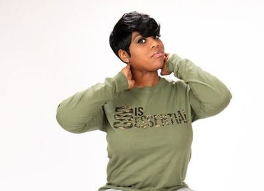 """(PRE-ORDER) """"GOD IS ESSENTIAL"""" Long-Sleeve Tee, Green/Camo"""