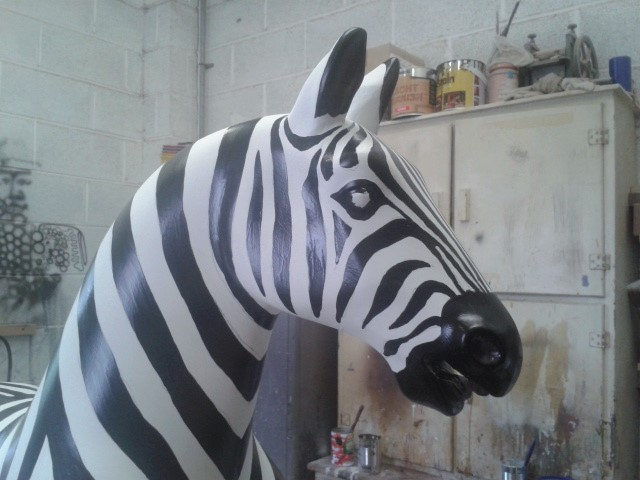 nearly finshed head of zebra (correct ze