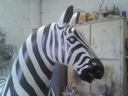 nearly finshed head of zebra (correct ze