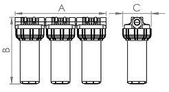 Dimenzije filtra za vodo