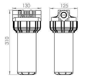 Dimenzije filtra za vodo EKOM