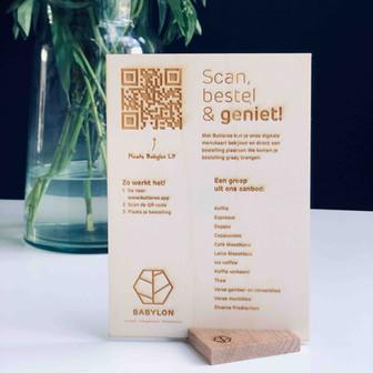 duurzame menukaart lasersnijden en graveren hout