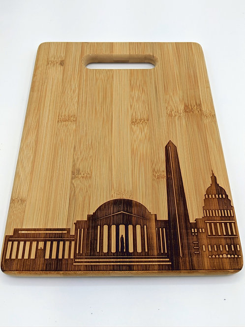 DC Skyline Wood Cutting Board