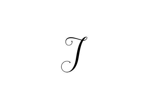 Monogram J Folded Note