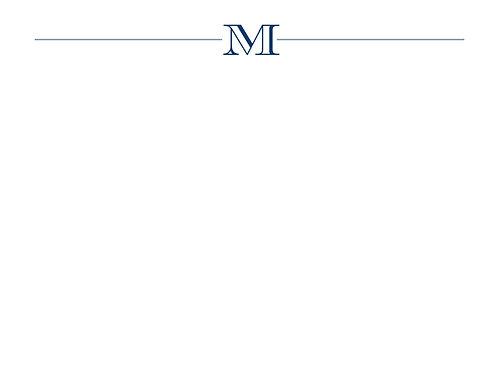 Monogram M Flat Card