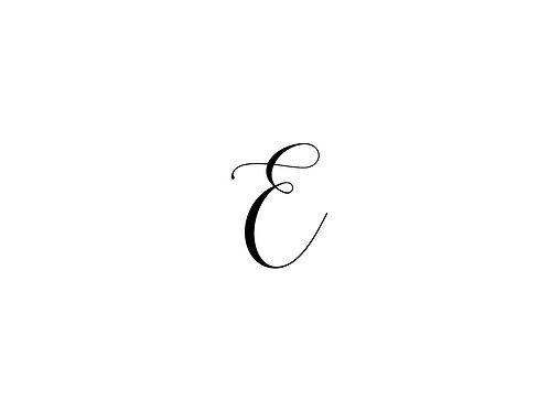 Monogram E Folded Note