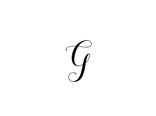 Monogram G Folded Note