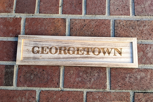 Georgetown Wood Tray Sign