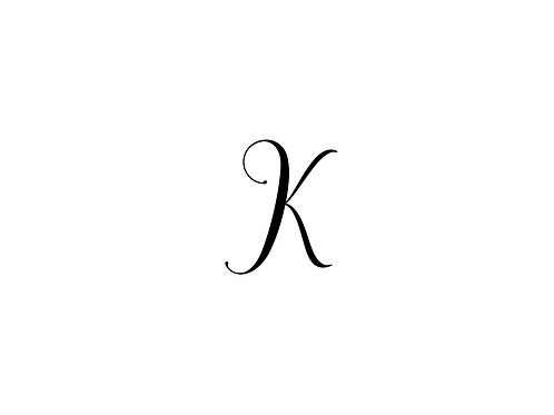 Monogram K Folded Note