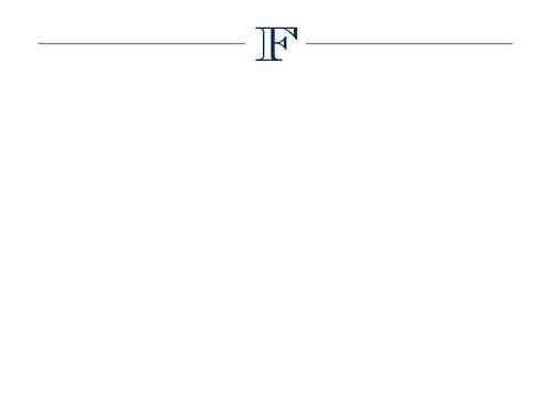 Monogram F Flat Card