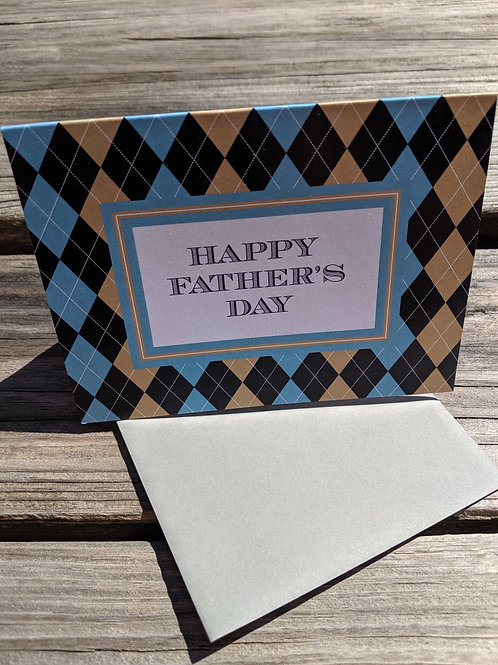 Father's Day Argyle Card
