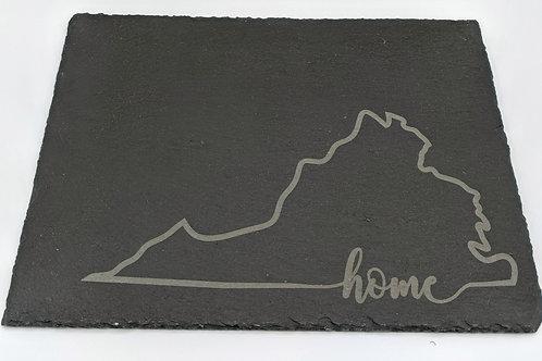 Virginia Home Slate Cheese Board