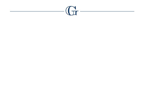Monogram G Flat Card