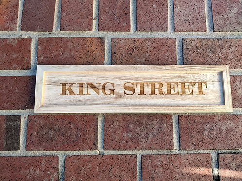 King Street Wood Tray Sign