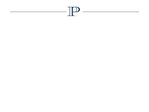 Monogram P Flat Card