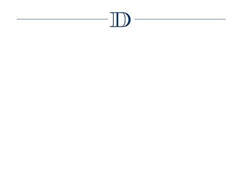 Monogram D Flat Card