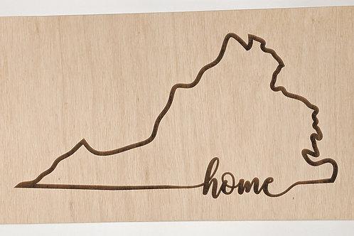 Virginia Home Sign plain