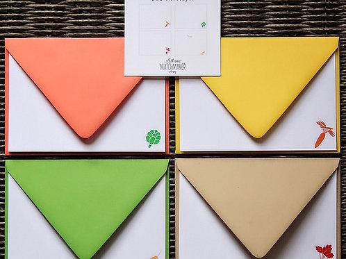 Garden 4bar Flat Cards Set/8
