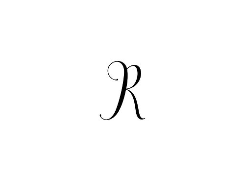 Monogram R Folded Note