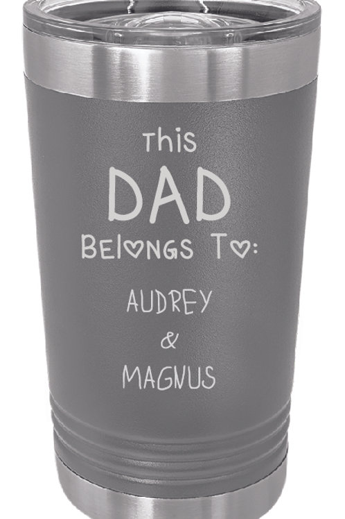 Father's Day Laser Etched 20 oz Tumblers