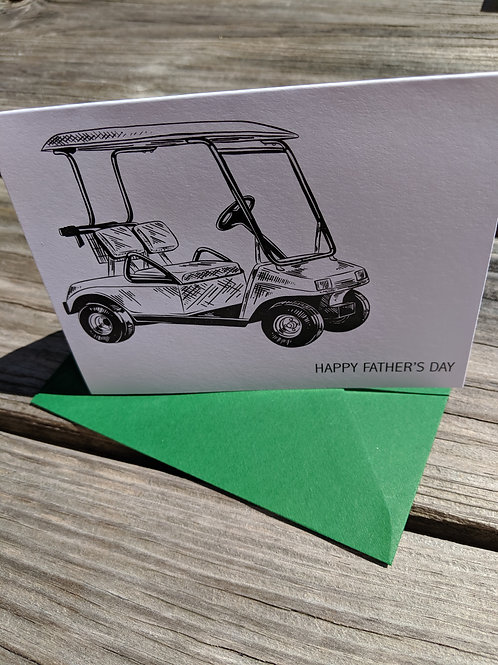 Father's Day Golf Cart Card