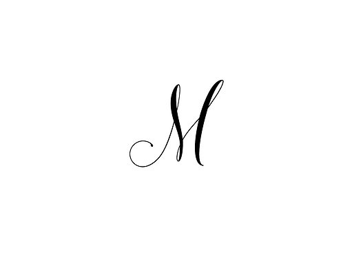 Monogram M Folded Note