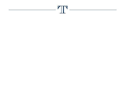 Monogram T Flat Card