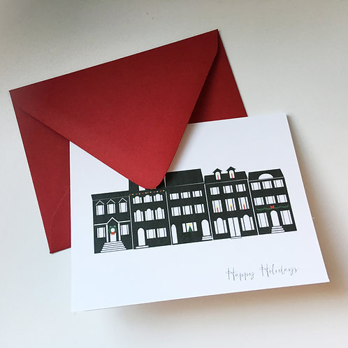DC Rowhomes Holiday Single Card