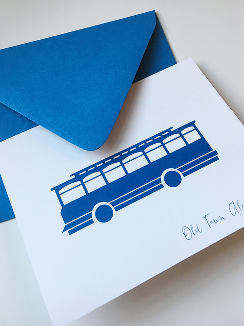 Old Town Alexandria Trolley Single Card