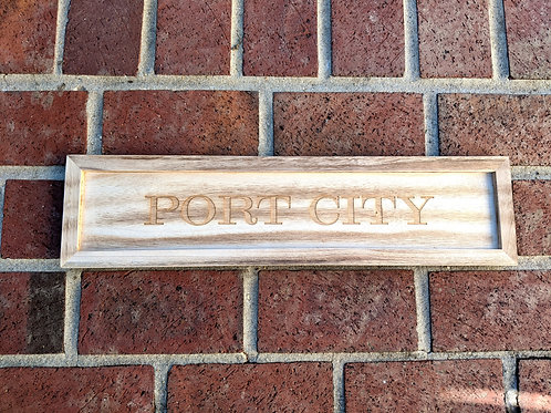 Port City Wood Tray Sign